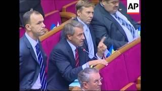 Tymoshenko and supporters stage sit-in in Parl against Dec 7 elex