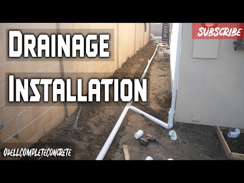 how to install drains for concrete patio and concrete side yard part 2