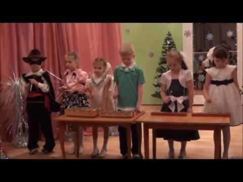 Новый год в детском саду. Игра на музыкальных инструментах.  Для подготовительной группы.