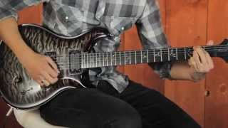 "Mark Holcomb of Periphery plays ""Scarlet"" ( Periphery II ) Limited Edition PRS"