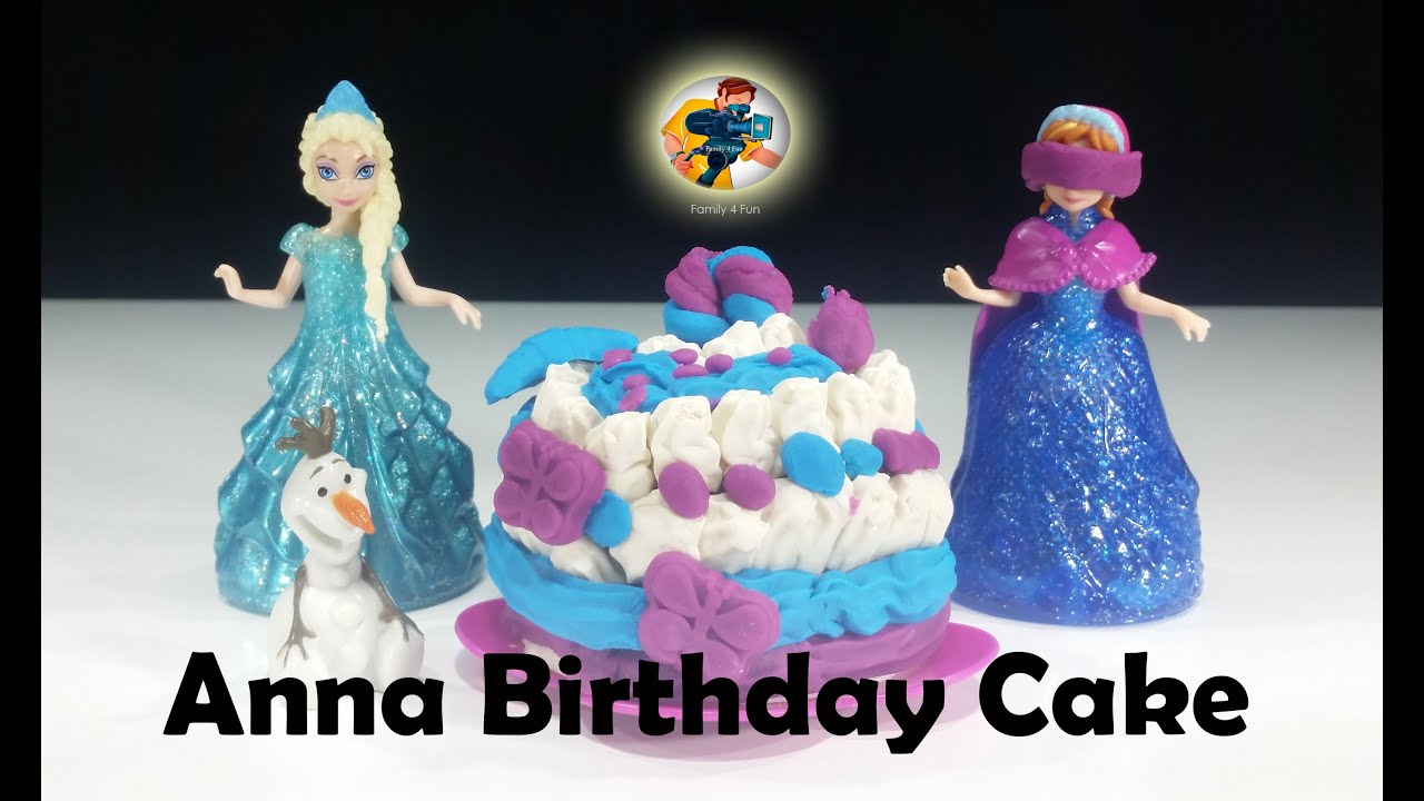 Disney Frozen Elsa Olaf Make Play Doh Anna Birthday Cake