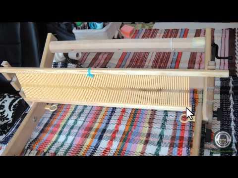 Видеокурс для начинающих о приёмах ткачества на настольном ткацком станке с одним бёрдышком