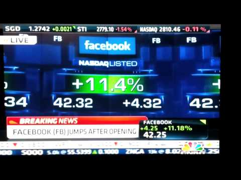 facebook IPO- starts trading Live