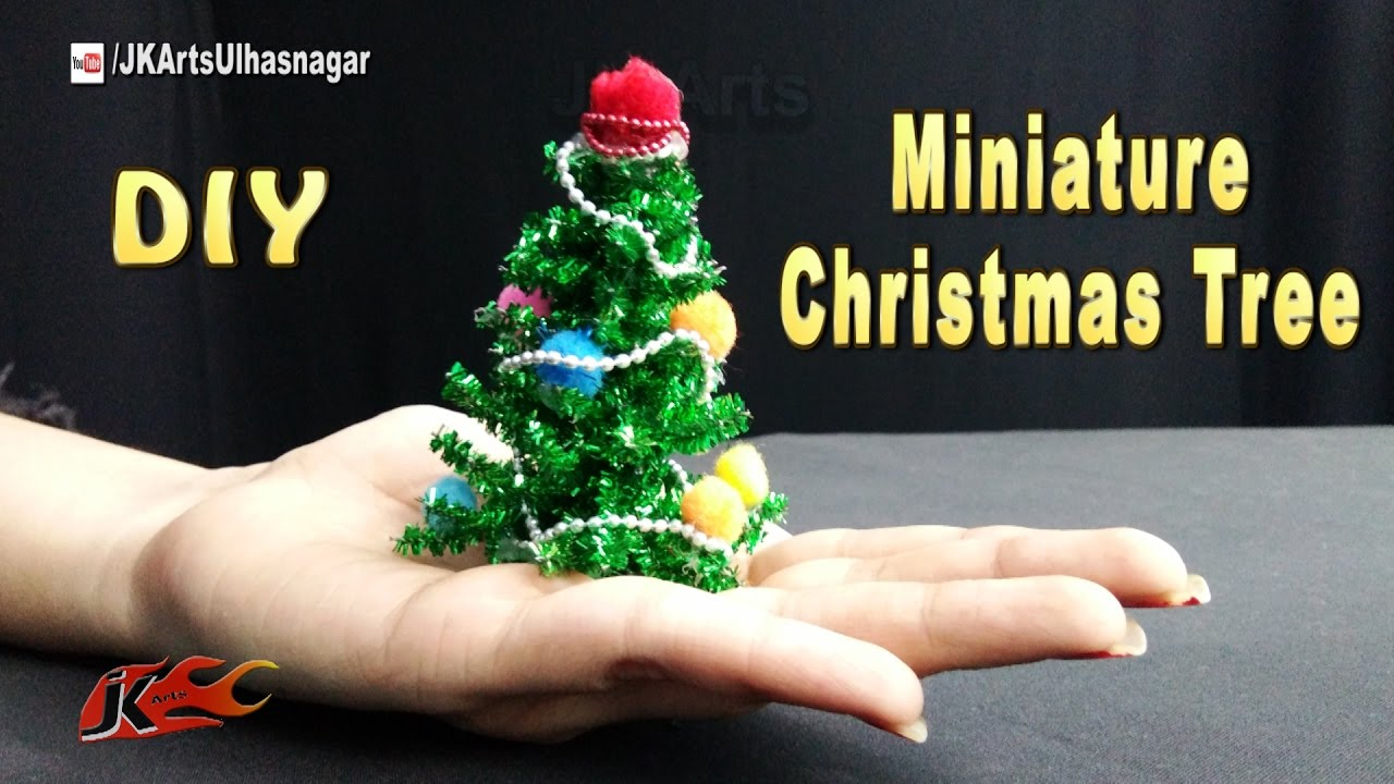 how to make miniature christmas tree diy christmas decorations jk arts1145 youtube