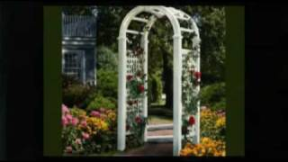 White Vinyl Garden Arbors Add Elegance To Your Garden Or Wedding