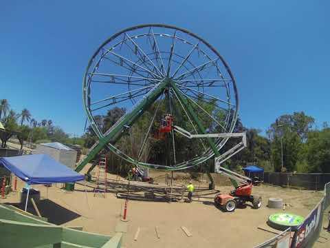 Fifty Monkey Ferris Wheel Time Lapse Santa Ana Zoo