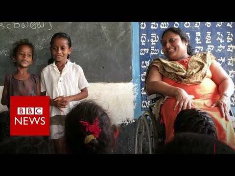 How a polio survivor is educating India's rural children - BBC News