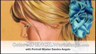 How to Draw Faces with Colored Pencils by Sandra Angelo HD