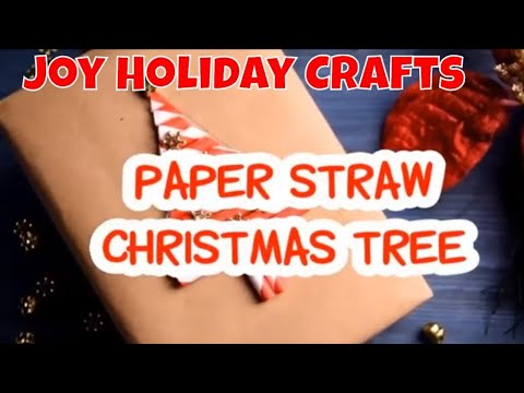 Paper Straw Christmas Trees! EASY DIY paper craft