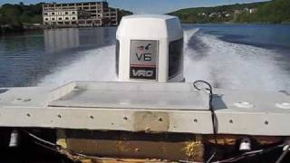 Tearin up the river with a Johnson 225 V6 on a 17' Bayliner at 50+ mph