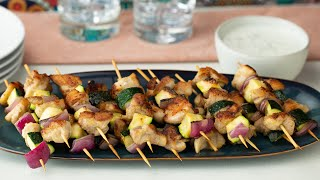 Chicken Kebabs With Yoghurt Sauce  Proper Tasty