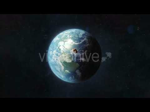 Asteroid Approaching the Planet Earth