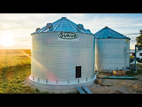 Grain Bin Construction - Part 2 - YouTube