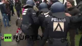Germany: Police fight protesters as far-right march sparks chaos in Wittenberge