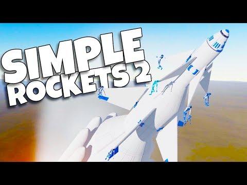 Amateur Rocket Surgeon Destroys Crash Test Dummies in Simple Rockets 2