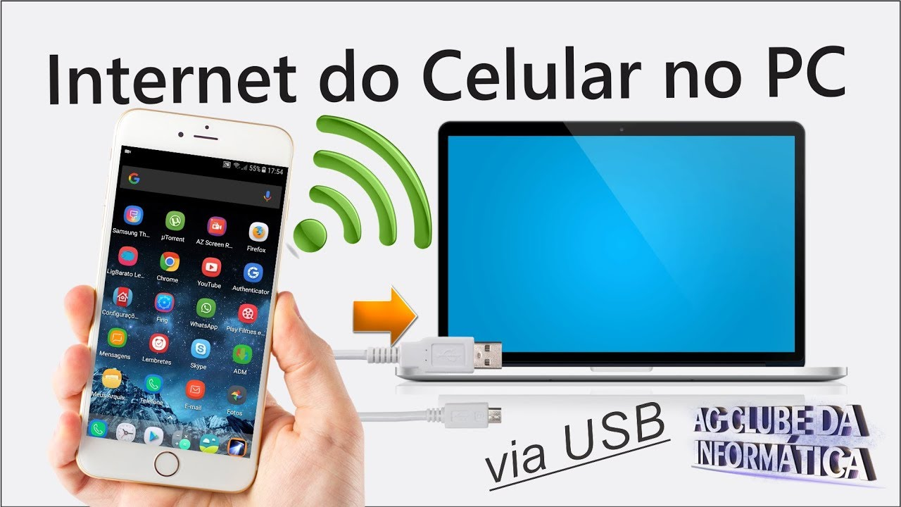 Como Usar Internet Do Celular No Pc Via Usb Youtube