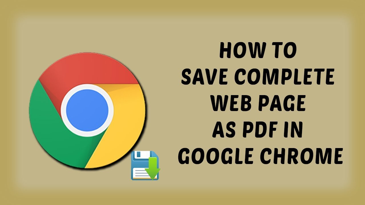How To Save Complete Web Page As Pdf In Google Chrome Tutorials In Hindi Youtube