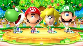 Mario Party 10 MiniGames - Mario Vs Yoshi Vs Luigi Vs Peach (Master Difficulty)
