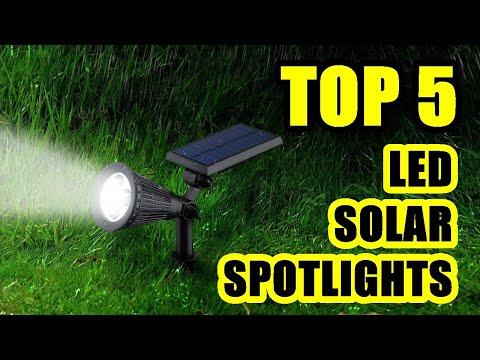 TOP 5: Best LED Solar Spotlight 2021 | Waterproof Lights for Outdoor