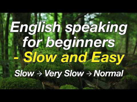 Basics of English speaking for beginners - Slow and Easy