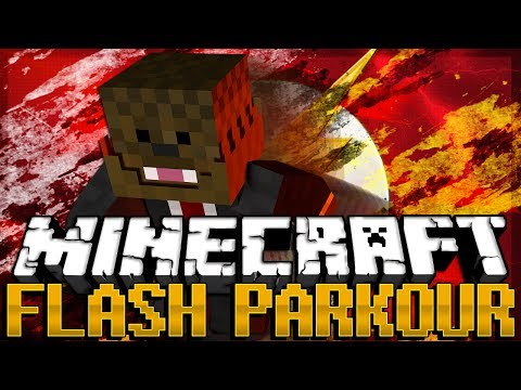 RUN AS FAST AS A CAR In Minecraft (Flash Parkour Map) W/ BajanCanadian And SSundee | JeromeASF