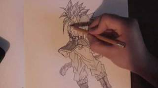 how to draw goku super saiyan 5