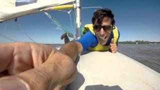 Laser sailing río paraná