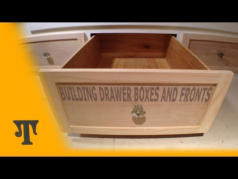 Building Plywood Drawer Boxes With Finger Joints and Tongue and Groove Recessed Panel Drawer Fronts