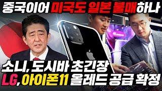중국 이어 미국도 일본 불매하나? 소니, 도시바 초긴장 LG, 아이폰11 올레드 패널 공급 확정 l LG Display Chosen By Apple [ENG SUB]