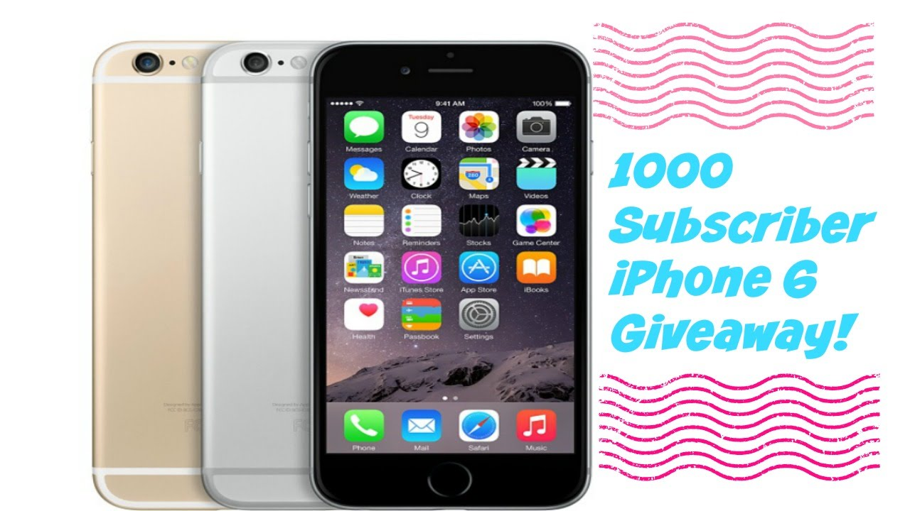 facebook iphone 6 giveaway 1000 subscriber giveaway iphone 6 giveaway youtube 7957