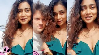 Shriya Saran Most Hottest Video   Actress Shriya Saran Fun with her hubby Andrei   Shriya Saran