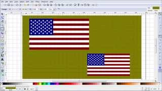 Inkscape Tutorial Showing How To Make the Flag of the United States of America