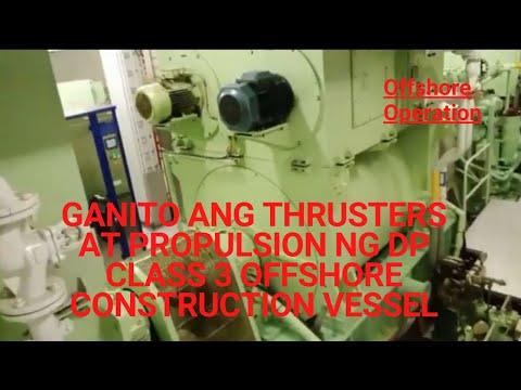 Thrusters & Propulsions of Offshore DP class 3 vsl video