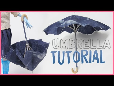DOLL UMBRELLA TUTORIAL ☂️ How to make an articulated umbrella!