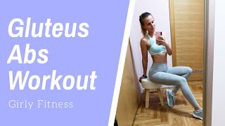 GLUTEUS & ABS WORKOUT (Girly Fitness LIVE trening)