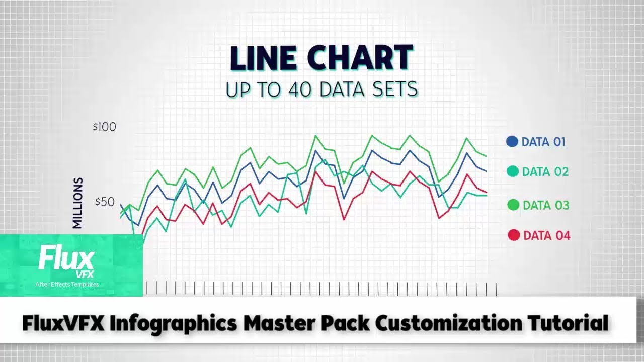 Infographics Master Pack After Effects Template Line Chart