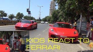 KIDS REACT TO FERRARI   FERRARI PUBLIC REACTIONS