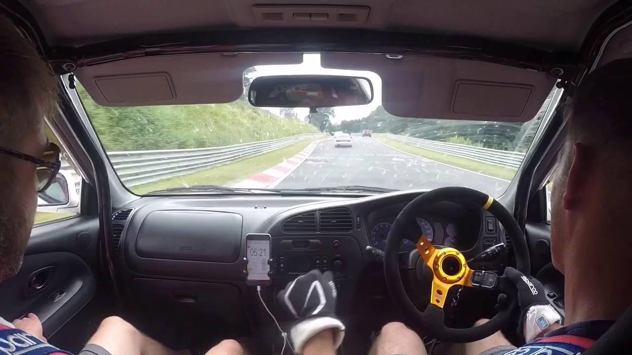 Mitsubishi Evo VI Nurburgring chasing VERY fast BMW E30 M3 and Porsche 911 GT3