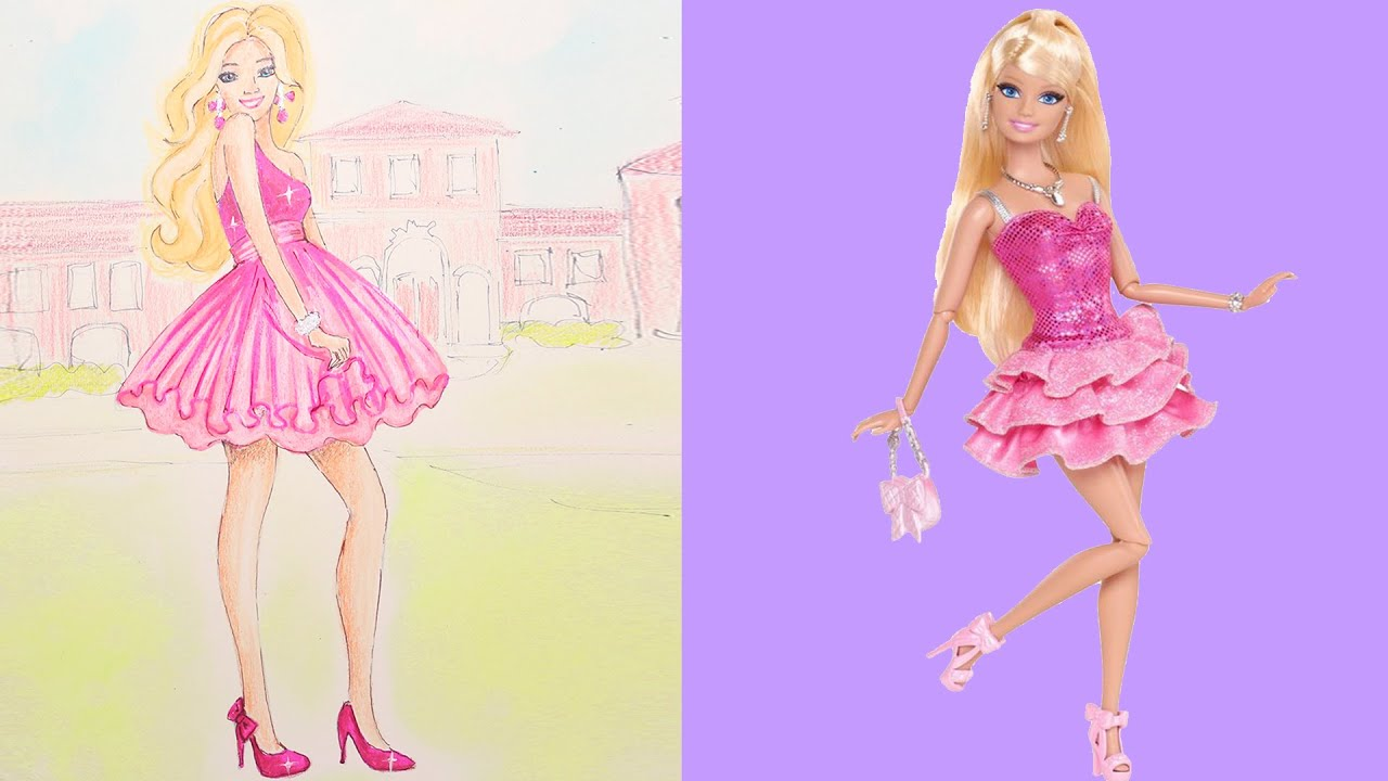 Barbie dream house drawing painting coloring boyaboya