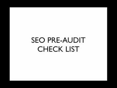 Jacksonville SEO Expert Pre-Audit Checklist