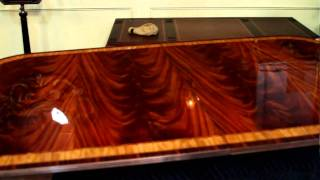 Here Is Why Flame Mahogany Is Called Flame, Wow Cool Video Of High End Table