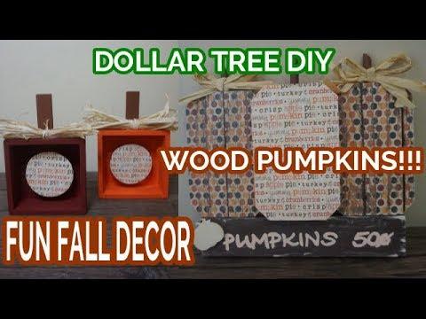 WOOD PUMPKINS!!! | FALL DECOR | Dollar Tree DIY