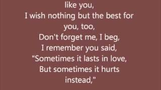 Adele - Someone Like You with lyrics