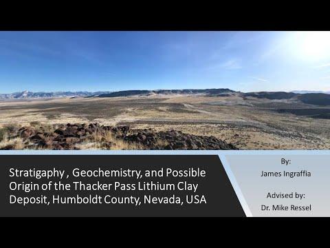 Lithium clays at McDermitt caldera, Nevada: M.S. thesis defense (Apr. 2020)