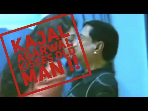 Kajal Agarwal kiss old man !!