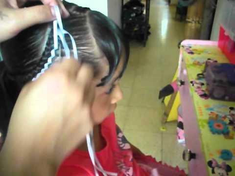 Encintado Escalera Peinados Infantiles