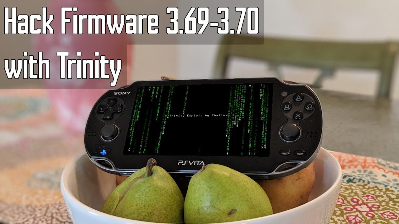 Playstation Vita: Hack 3 69 3 70 with Trinity