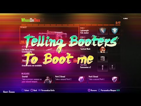 Asking Booters to Boot Me |