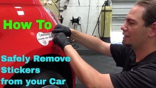 "Sticker Removal - ""How To"" Video Tutorial"
