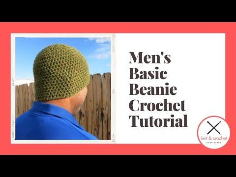 Left Hand Basic Men\'s Beanie Free Pattern Workshop - YouTube